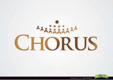 Logotipo de coro com silhuetas