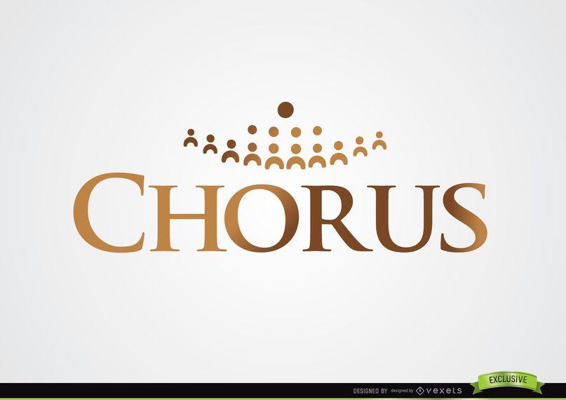 Logotipo de coro con siluetas.