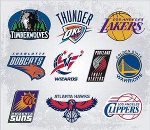 NBA team vector logos