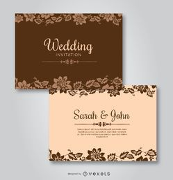 Convites florais Wedding do molde