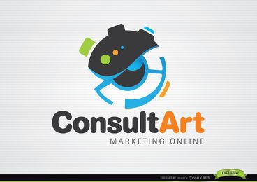 Consulte o logotipo de marketing de arte