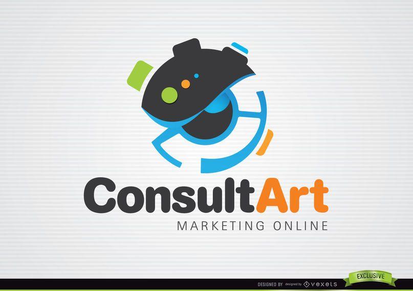 Consultar logo de marketing de arte.