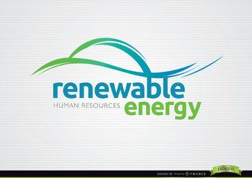 Logotipo curvilíneo de energía renovable