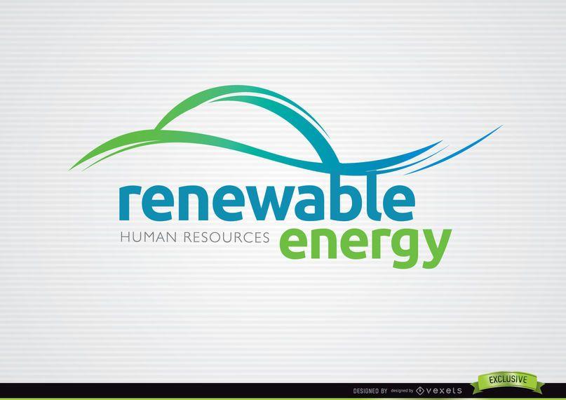 Ondas de energías renovables con logo.