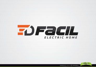 Modelo de logotipo de casa elétrica