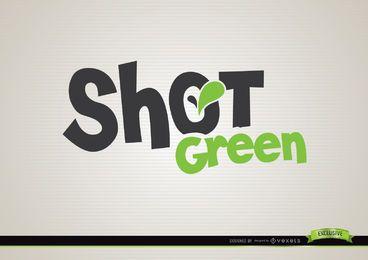 Logotipo de bebida verde de tiro