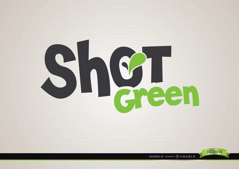 Shot green drink logo