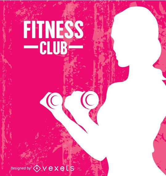 Fitness woman grunge