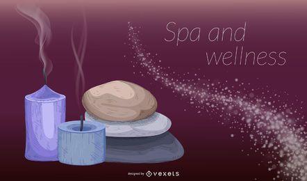 Fondo de bienestar spa y belleza