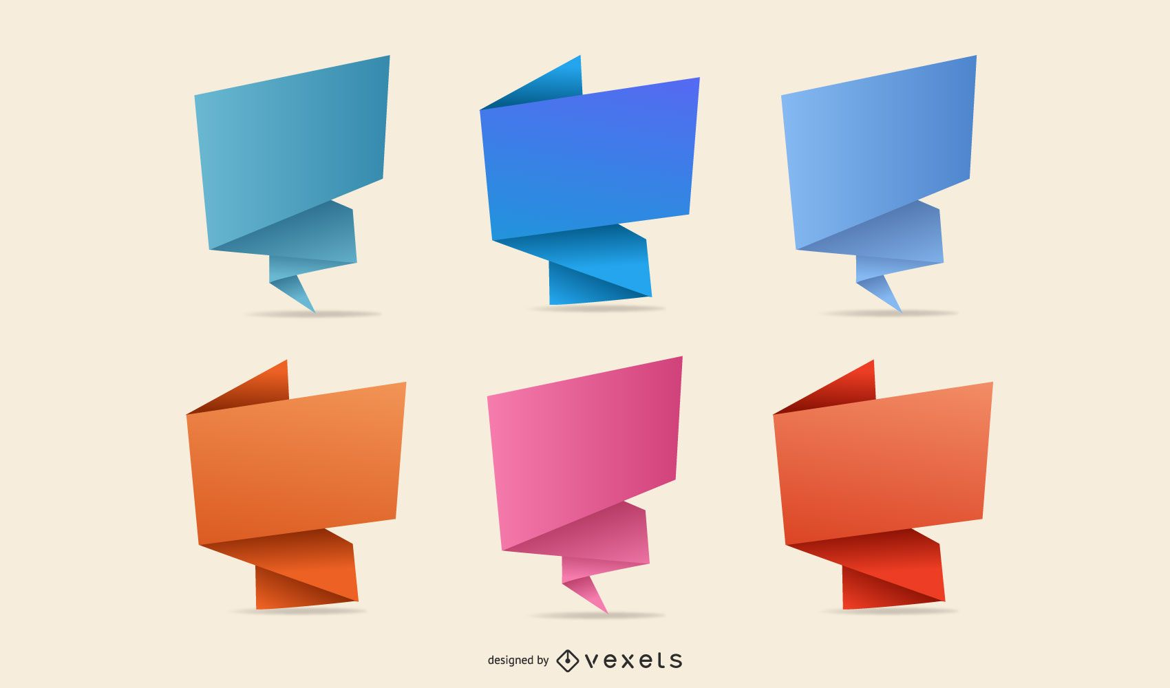Abstract Origami Sign Pack