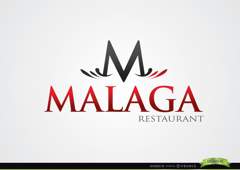 Logotipo tipográfico de M Restaurante Málaga - Descargar vector
