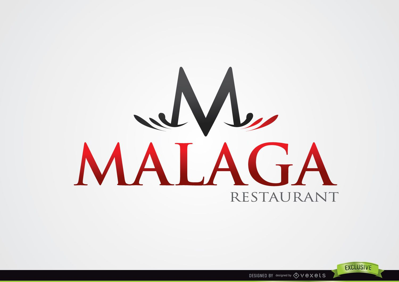 M Typographic Malaga Restaurant Logo