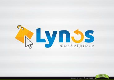 Cursor Tag Typographic Internet Logo