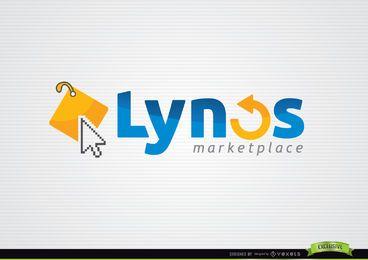 Logotipo de Internet tipográfico de marca de cursor