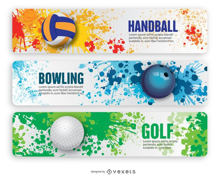 Handball, Bowling and Golf Banners