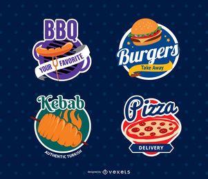 Selos de logotipo de restaurante de comida
