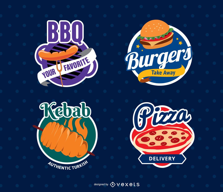 Sellos de logotipo de restaurante de comida