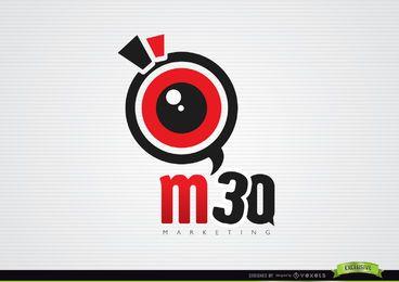 Logotipo de marketing da lente de aumento