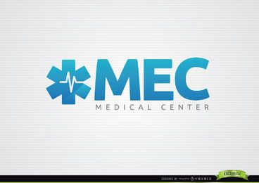 Logotipo médico de Asterisk Heartbeat Line