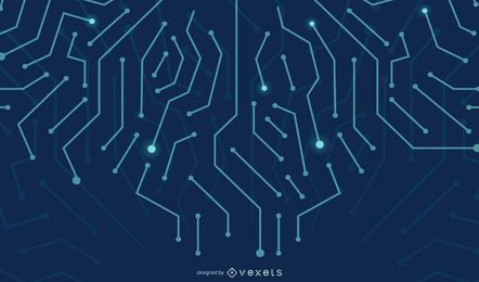 Fondo de líneas de circuito digital