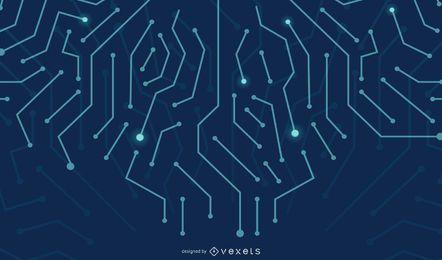 Fundo de linhas de circuito digital