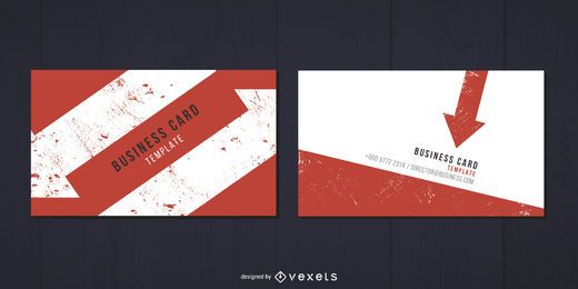 Arrow Prints Minimal Business Card