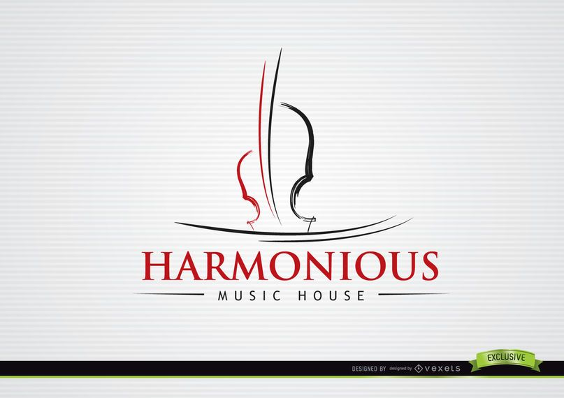 Logotipo Musical de Violino de Forro