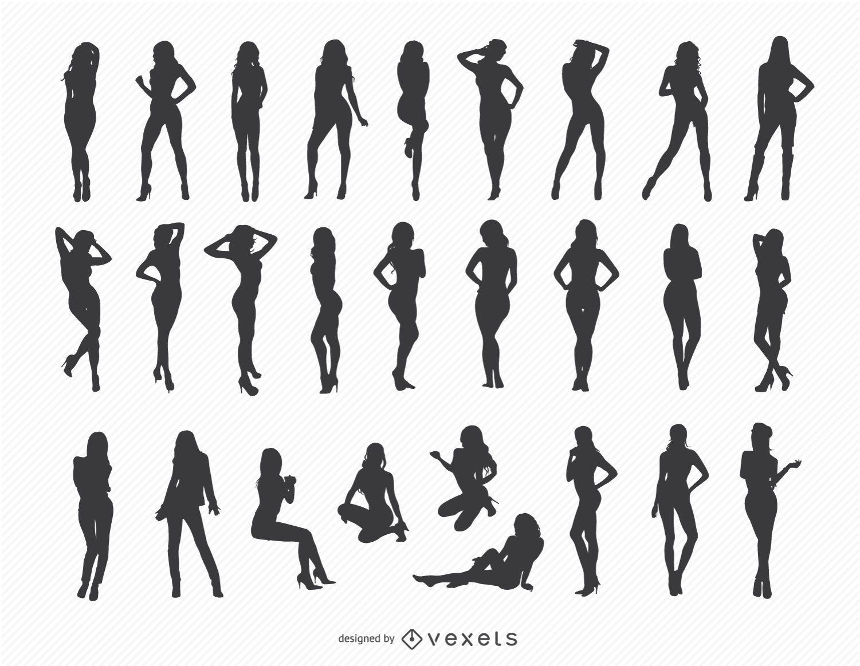 Sexy Mädchen Silhouetten