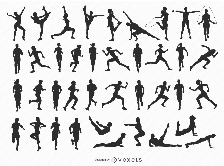 40 silhuetas de fitness