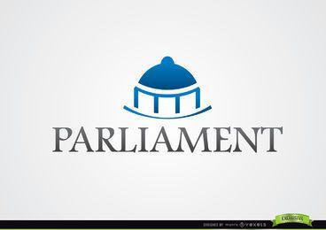 Logotipo del Parlamento de cúpula azul