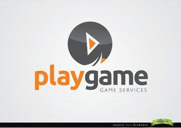 Jogar Círculo Botão Jogo Logo