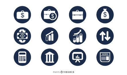 Elegant Business Icon Circle Pack
