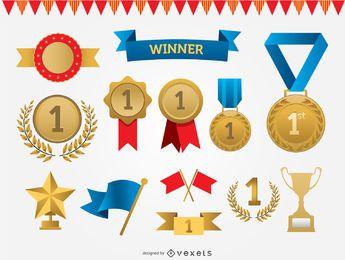 Conjunto de vetores de prêmios