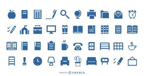 50 Liner Home Library Icons