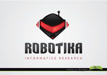 Plantilla de logotipo informativo de casco de robot