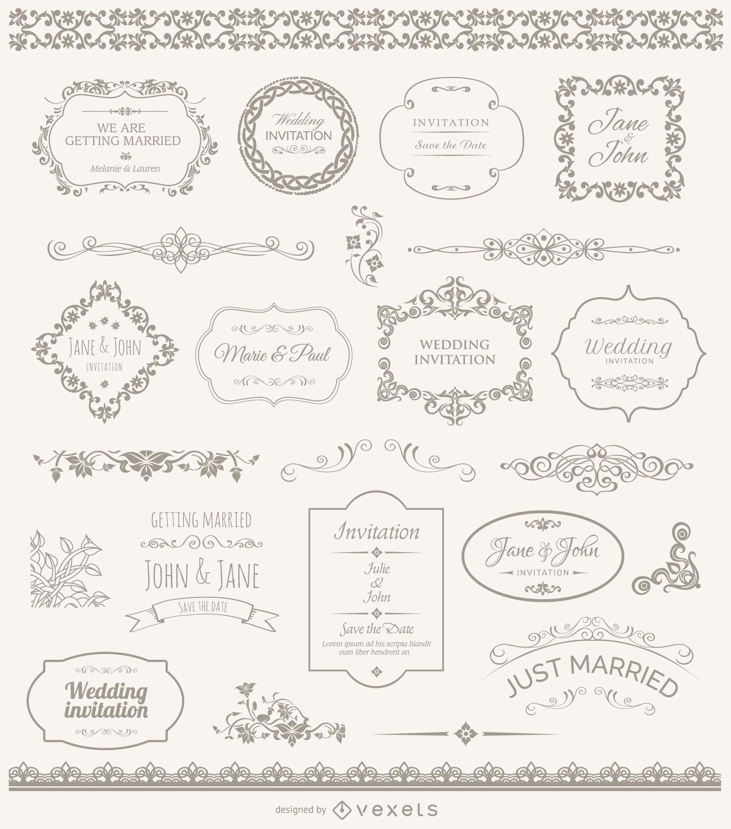 Wedding ornaments - Wedding Frames Badges And Ornaments Download Large Image 1031x1167px