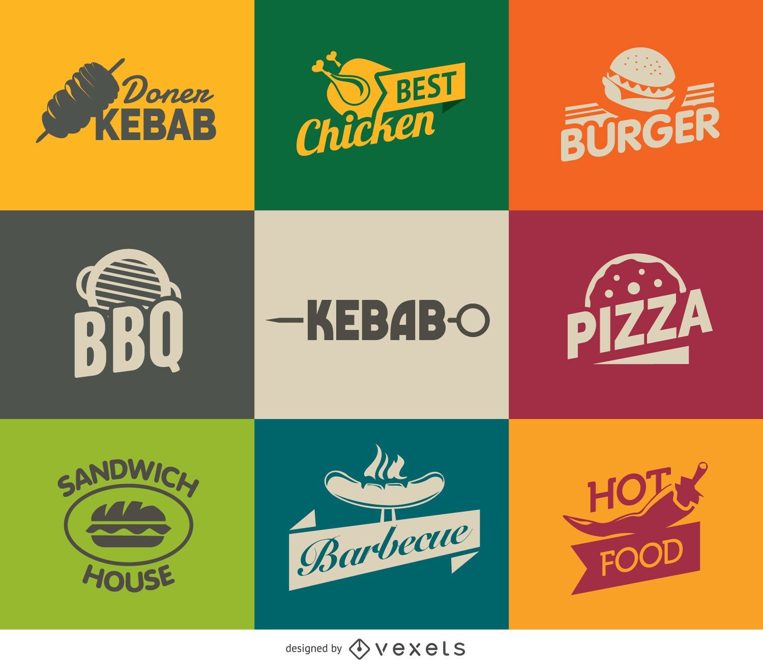 Fast Food Logos - Vector download