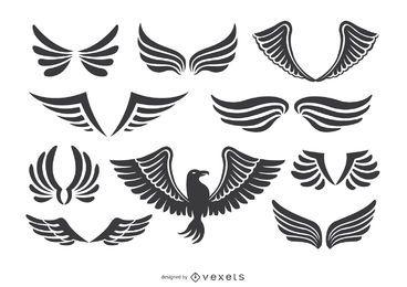 Fenix pássaro e asas ajustadas