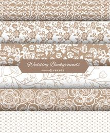 Wedding Backgrounds Set