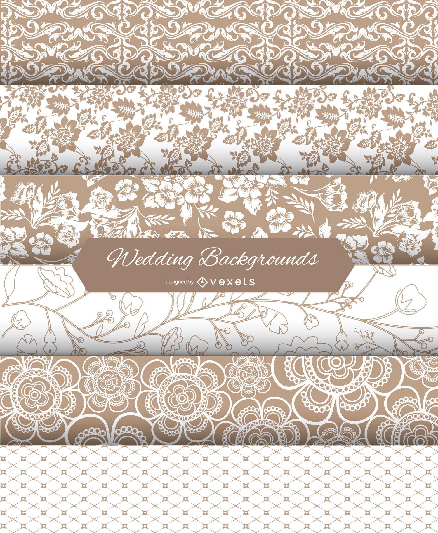 Wedding Backgrounds Set