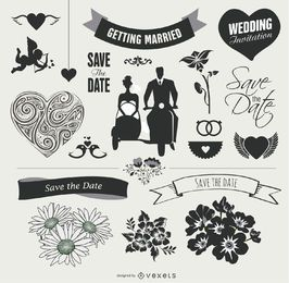 Elemento boda Conjunto Gráfico