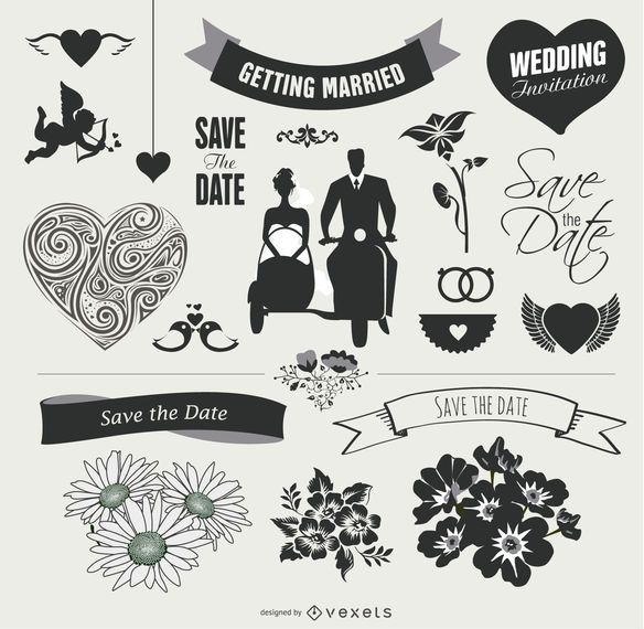 Wedding Element Graphic Set