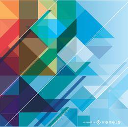 Fondo colorido geométrico abstracto