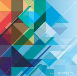 Fundo colorido geométrico abstrato