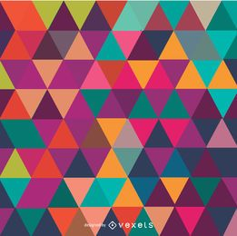 Triângulo mosaico colorido fundo