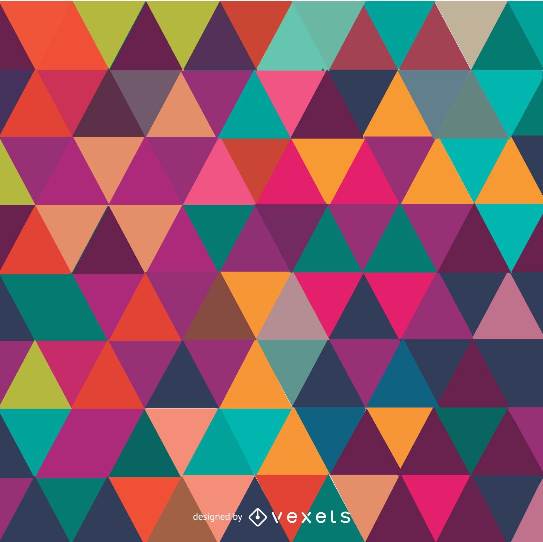 Fundo colorido do mosaico do triângulo