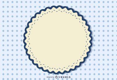 Weinlese-rundes Zeichen punktierter Hintergrund