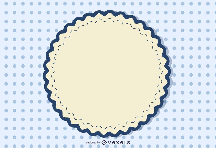Vintage Round Sign Dotted Background