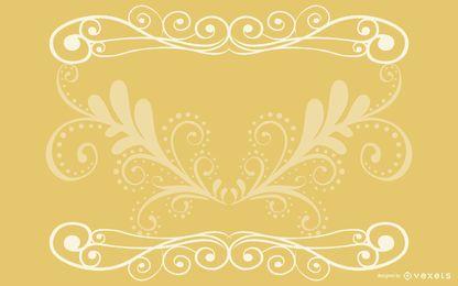Tarjeta elegante del vintage de los remolinos flor