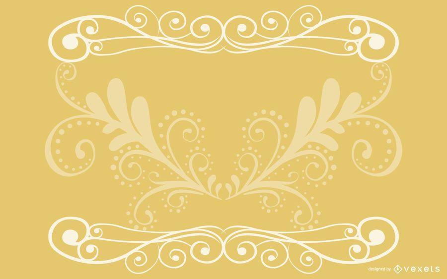 Cartão elegante do vintage dos redemoinhos florais